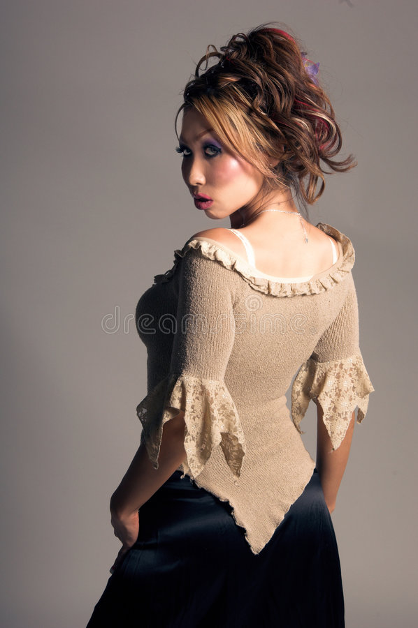 moda azjatykci model zdjęcie royalty free