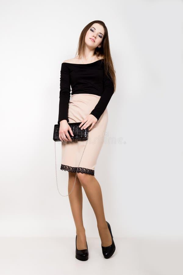Moda biznesu piękne młode kobiety z akcesoriami fotografia royalty free