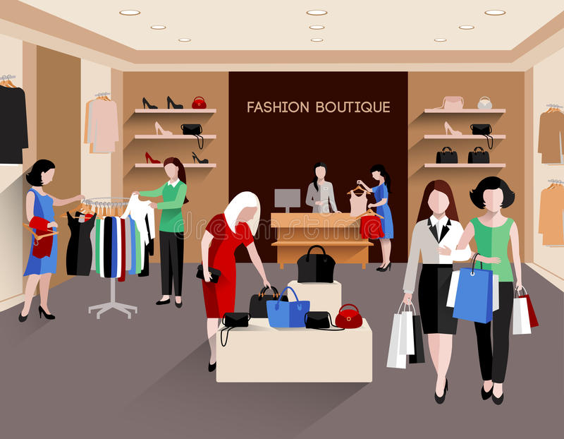 Moda butika ilustracja royalty ilustracja