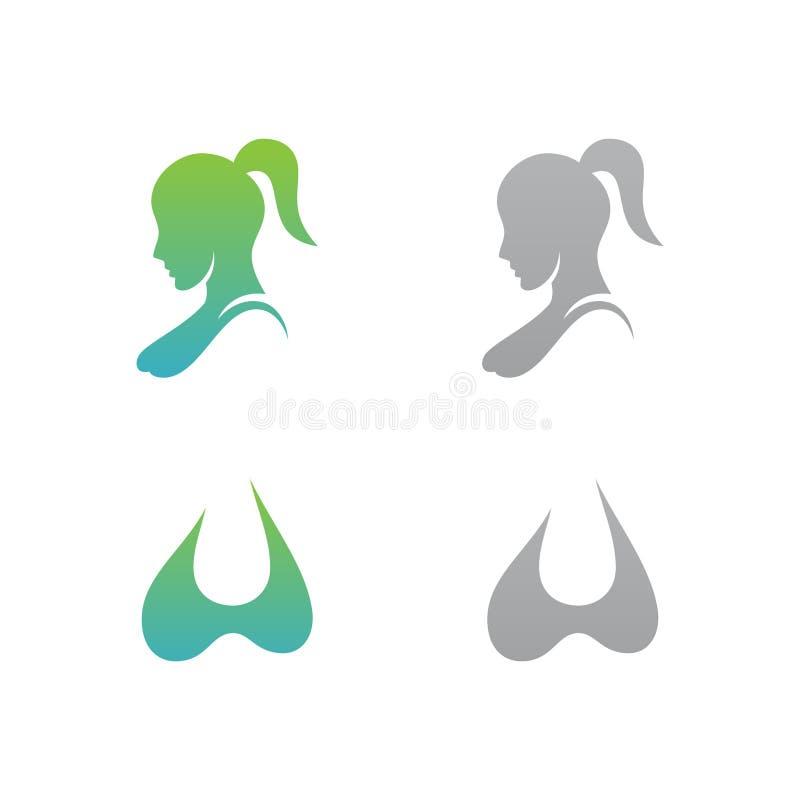 Moda colorida determinada de la mujer para el boutique ilustración del vector