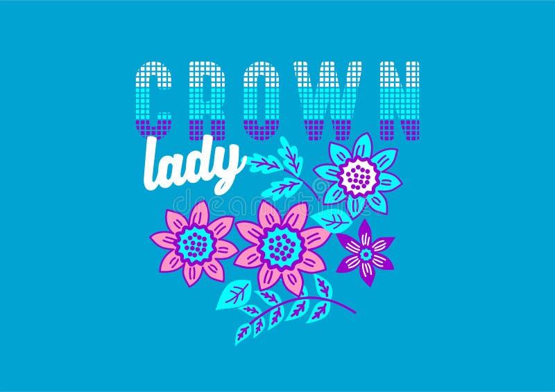 Moda de la camisa del diseño del vector de las muchachas imágenes de archivo libres de regalías