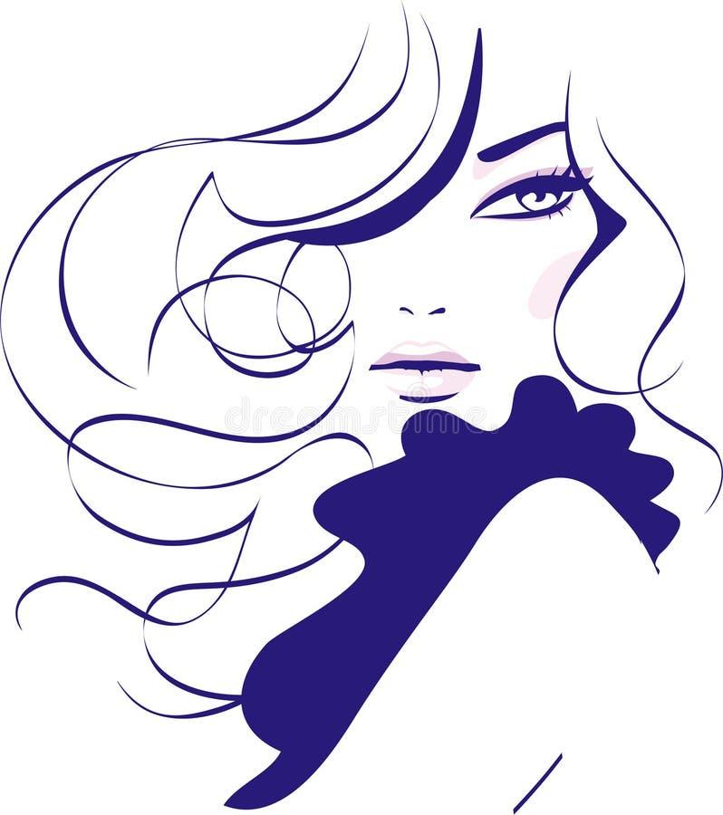 Moda de la muchacha ilustración del vector