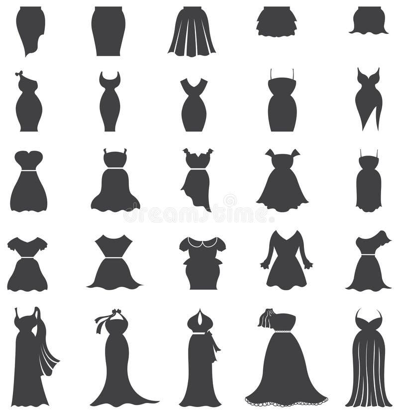 Moda De La Mujer De La Silueta Ropa Y Diseo Determinado Del Icono