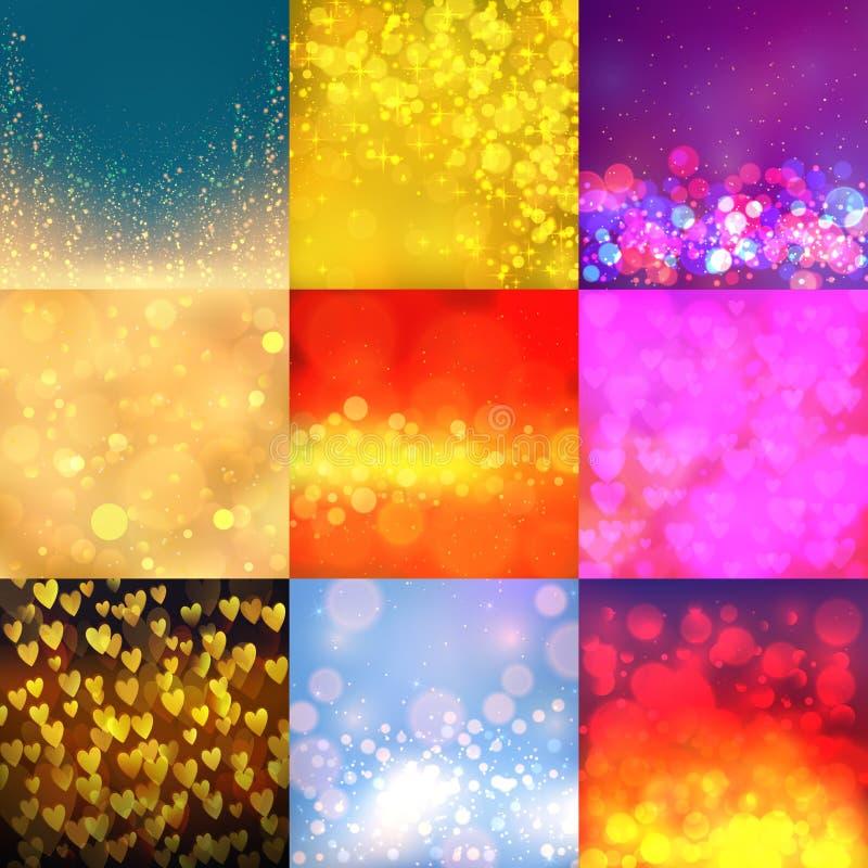 Moda de papel decorativa del estilo del bokeh del vector de la falta de definición de la textura del contexto del fondo del ejemp libre illustration