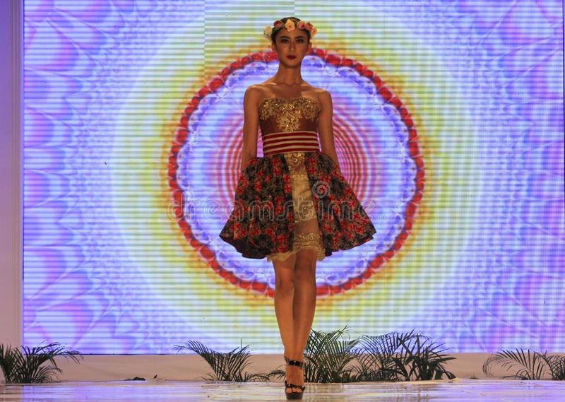 Moda del batik fotografía de archivo
