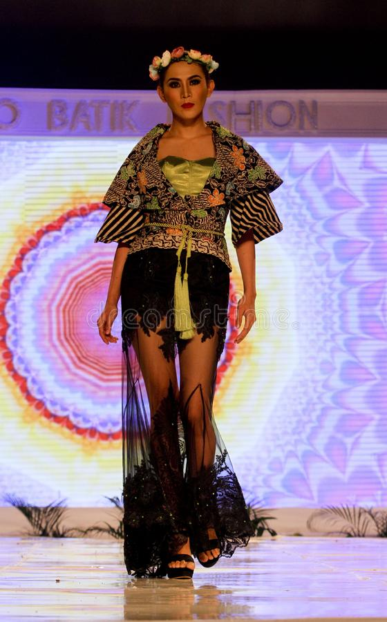 Moda del batik foto de archivo