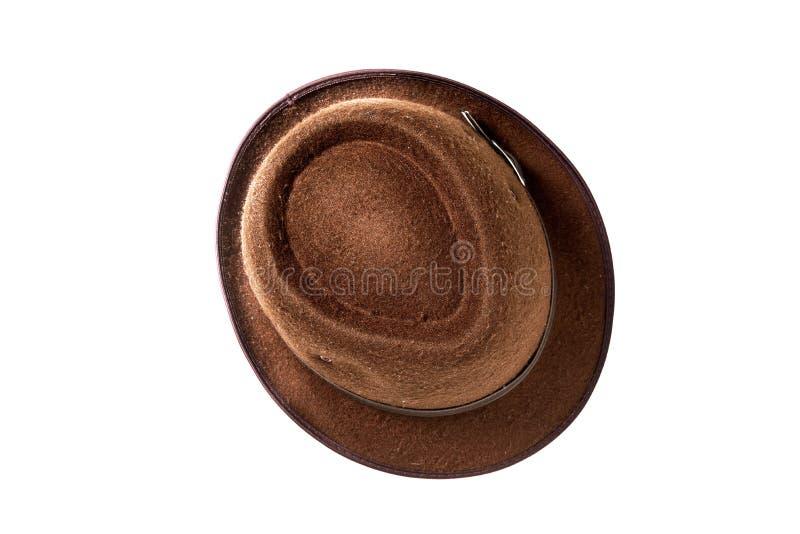 Moda del verano del sombrero del vintage con aislado en el fondo blanco imagen de archivo libre de regalías
