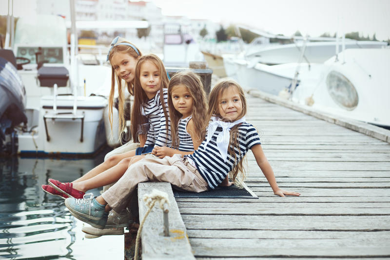 Moda dzieciaki fotografia royalty free