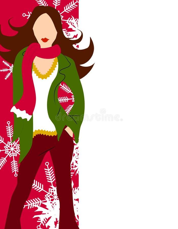 moda granic zimy modelu ilustracji