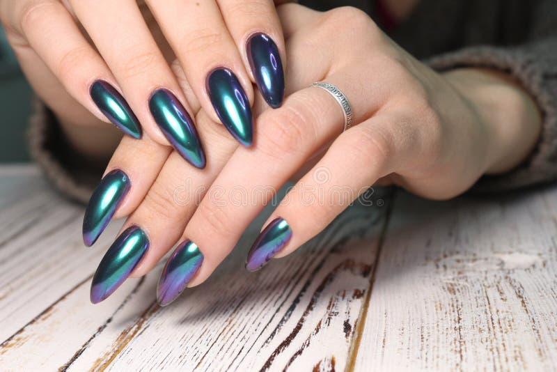 Moda gwoździ manicure zdjęcie stock