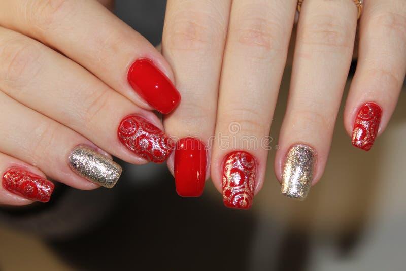 Moda gwoździ projekta manicure obrazy stock