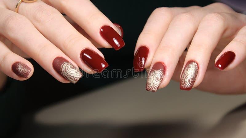 Moda gwoździ projekta manicure zdjęcia stock