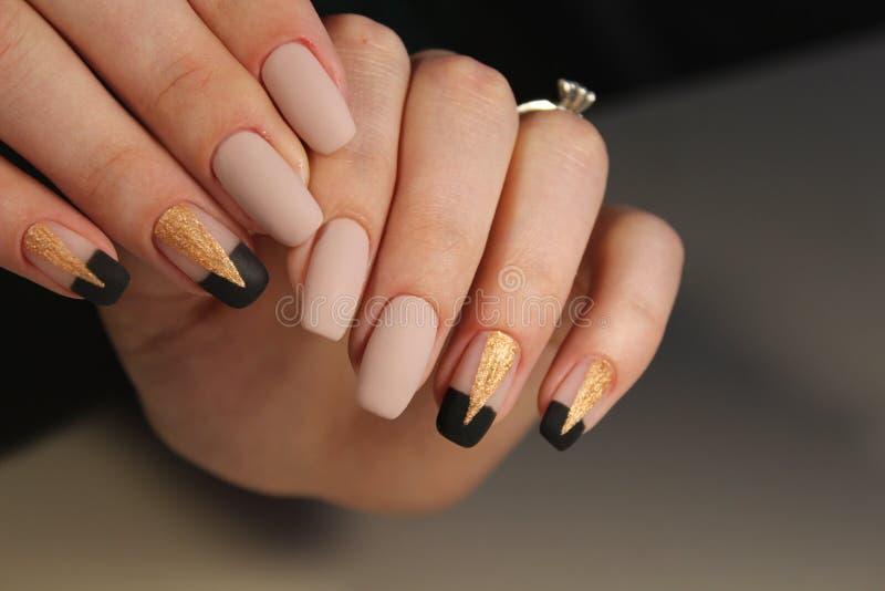 Moda gwoździ projekta manicure fotografia royalty free