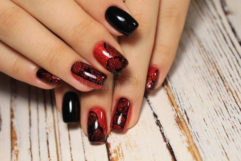 Moda gwoździ projekta manicure obraz royalty free