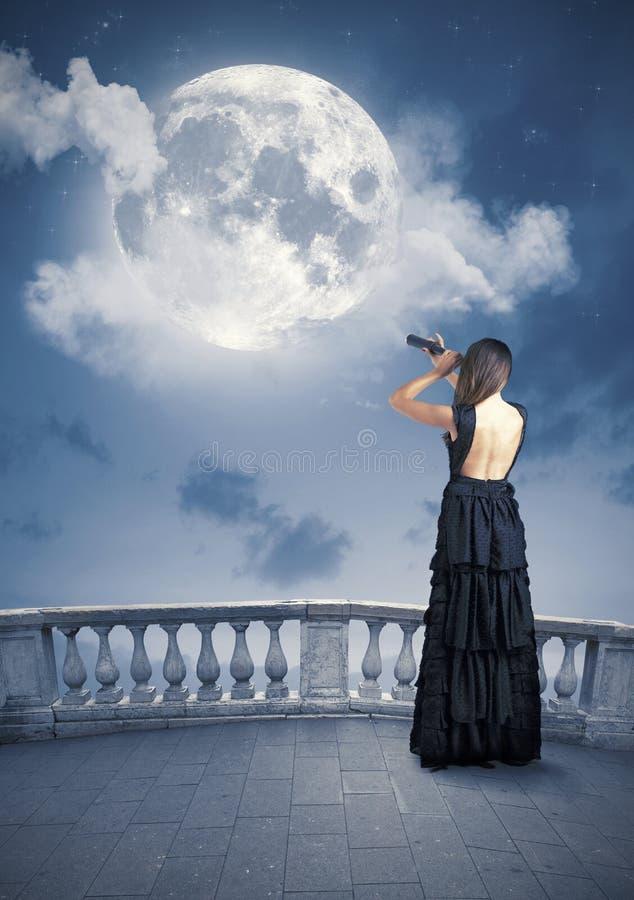 Moda i księżyc obraz royalty free