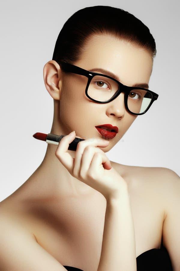 Moda i piękno Portret żeński stylista zdjęcie stock