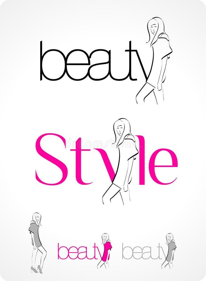 moda logo ilustracji