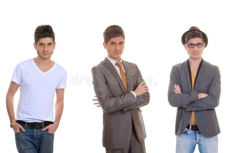 Moda mężczyzna, różni mężczyzna style zdjęcie stock