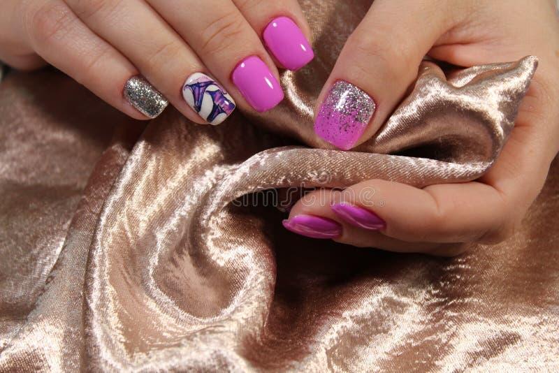moda manicure gwoździe zdjęcie royalty free