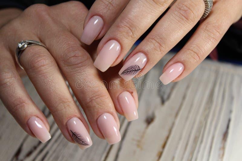 moda manicure gwoździe obrazy stock