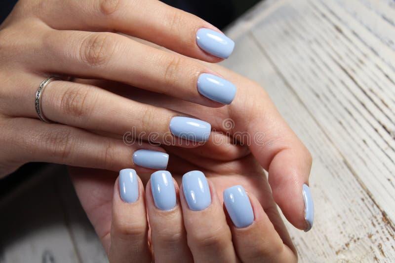 moda manicure gwoździe zdjęcia stock