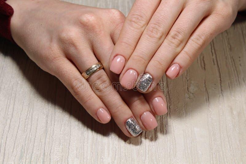 moda manicure gwoździe fotografia royalty free