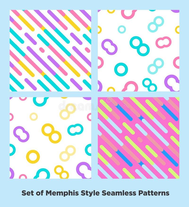 Moda Memphis Style Geometric Pattern del inconformista ilustración del vector