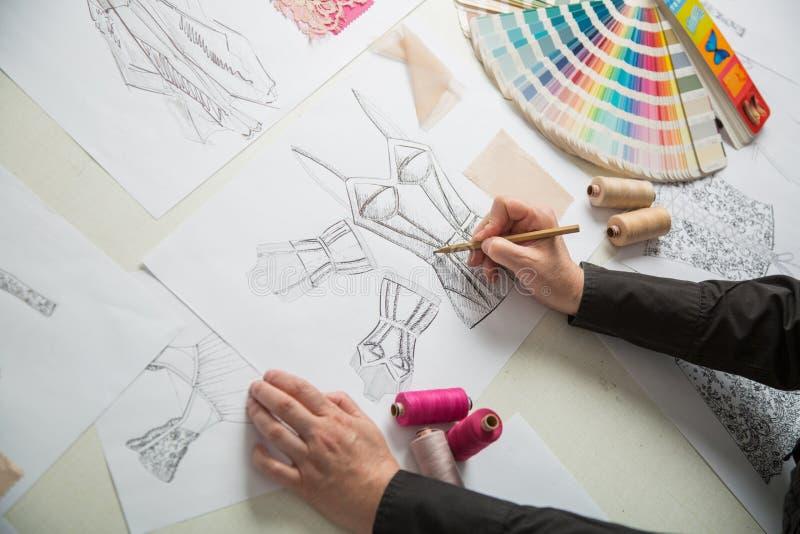 Moda o diseñadores del sastre imagenes de archivo