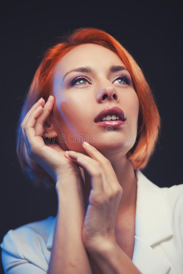 moda portret kobiety Moda stylu model obraz stock