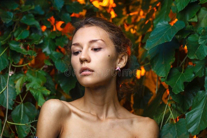 Moda portreta krótkopęd piękna nastoletnia dziewczyna obraz royalty free