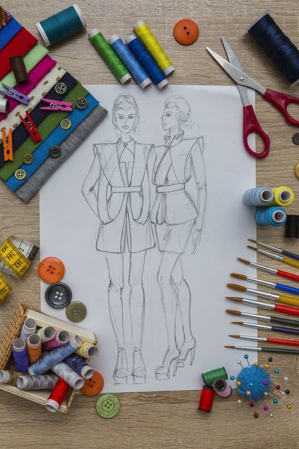 Moda projekt obrazy royalty free