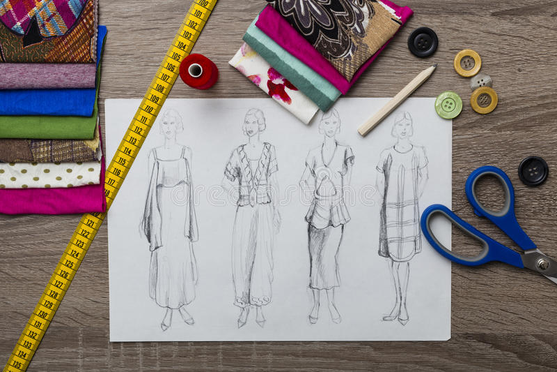 Moda projekt fotografia stock