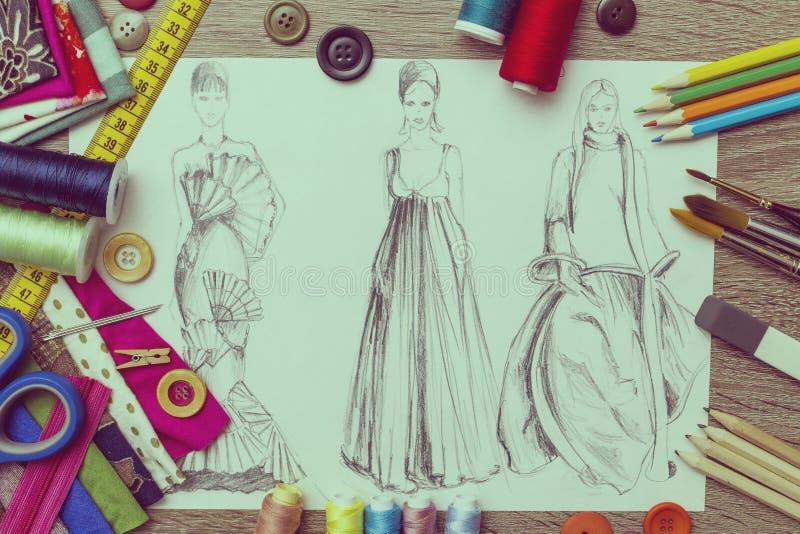 Moda projekt ilustracja wektor