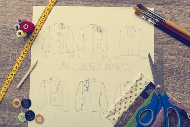 Moda projekt ilustracji