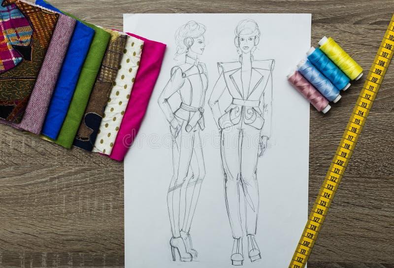 Moda projekta nakreślenie zdjęcie royalty free