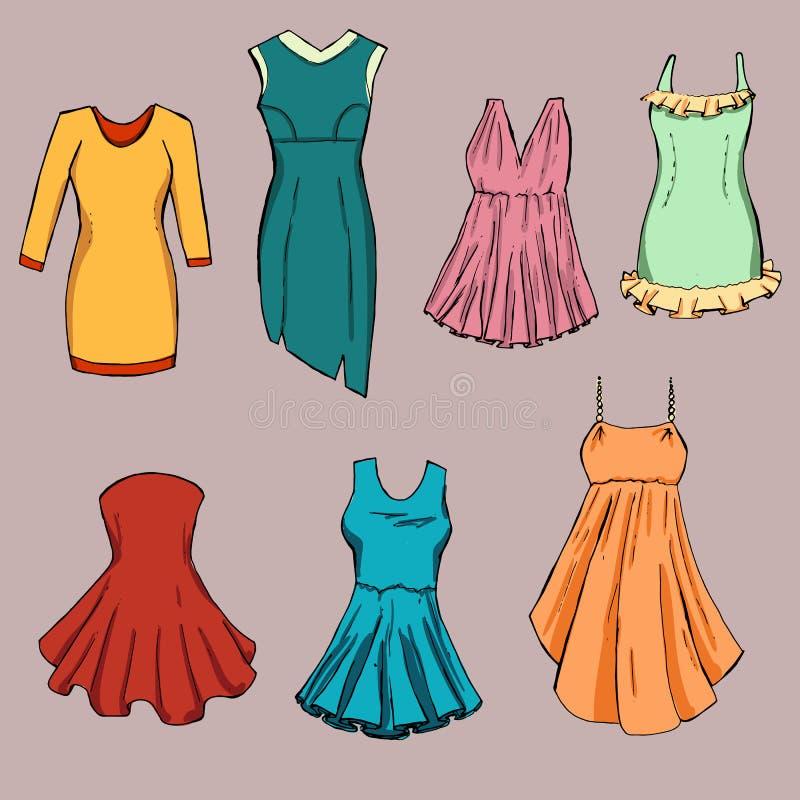 Moda set Grafika styl ilustracji