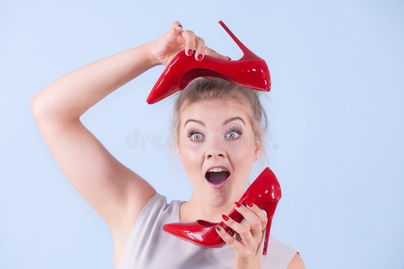 Moda stylista przedstawia szpilki zdjęcie royalty free
