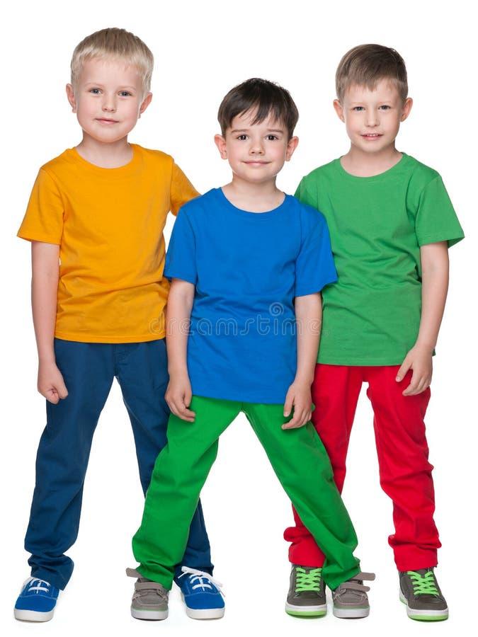 Moda uśmiecha się małych przyjaciół obrazy stock