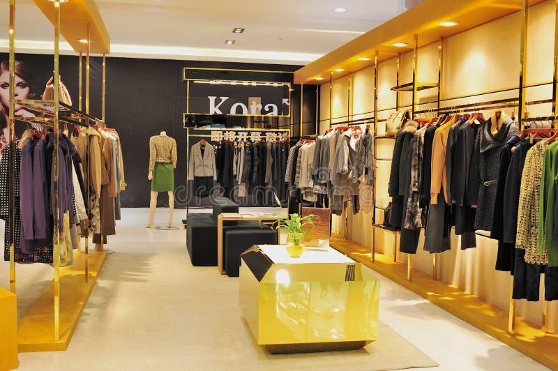 moda ubraniowy sklep obraz stock
