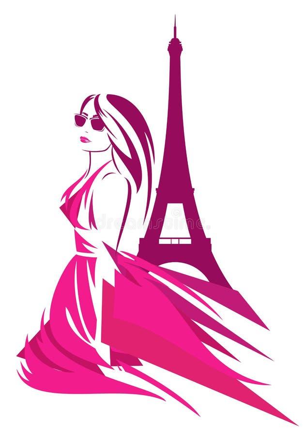 Moda w France royalty ilustracja