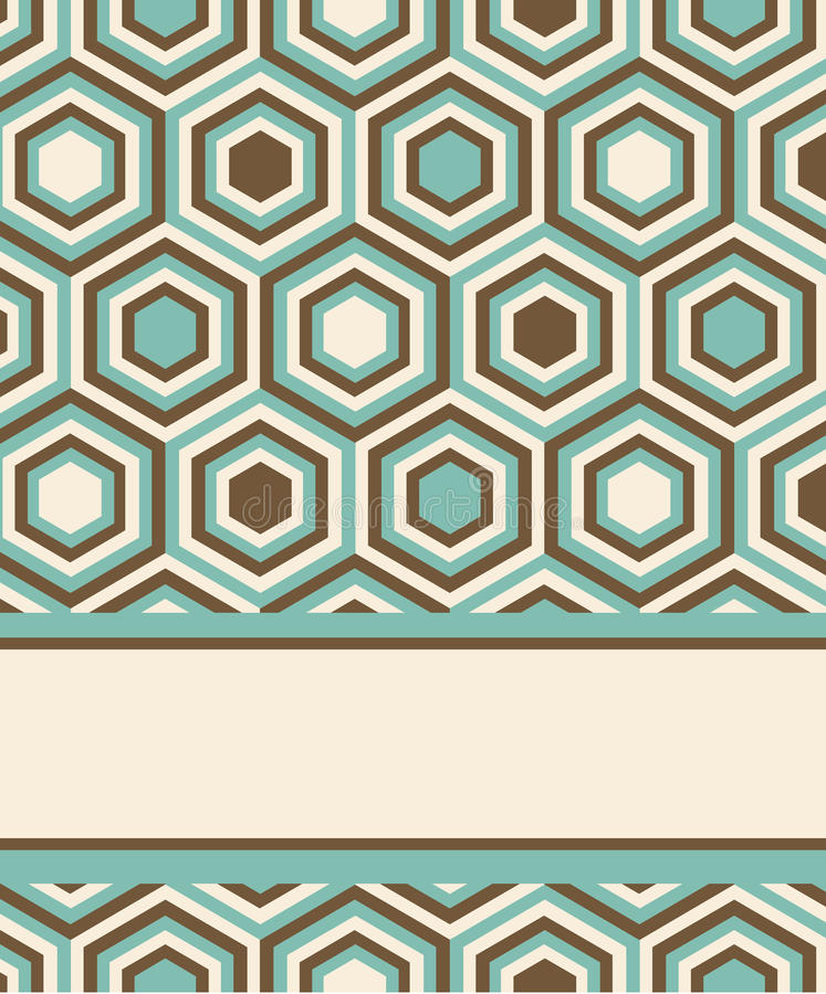 Moda wzór z kwadratami i gwiazdami royalty ilustracja