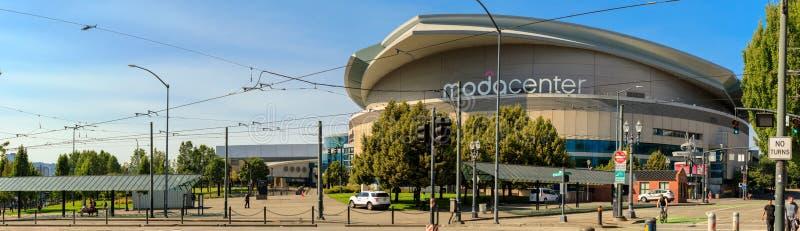 Modacentrum, Sportenarena in de stad van Portland royalty-vrije stock foto's