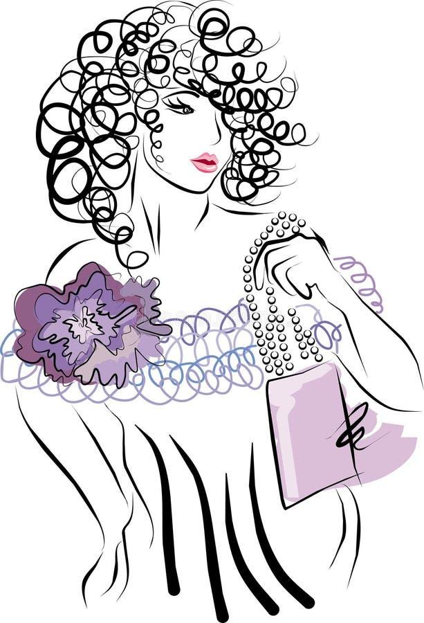 Modalidade Hand-drawn da forma ilustração royalty free
