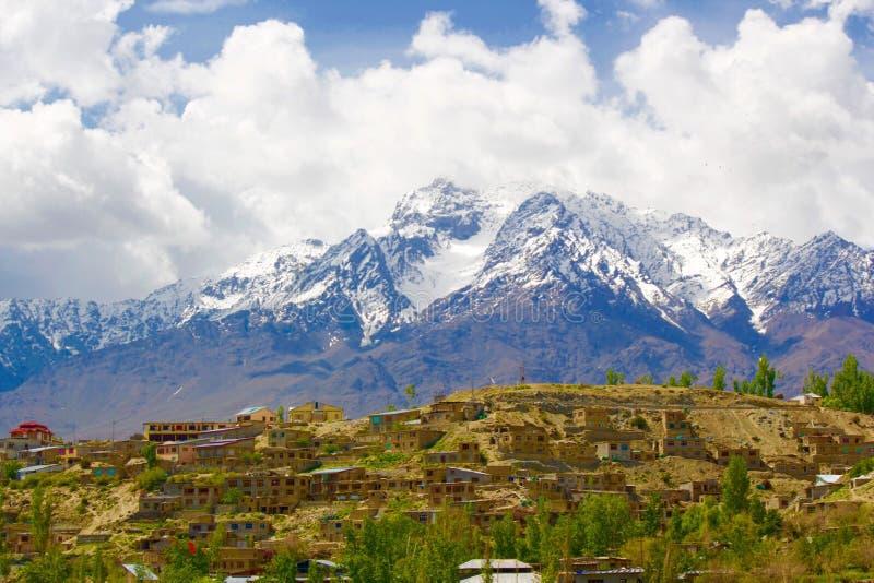 Modderhuizen in Leh Ladakh stock fotografie
