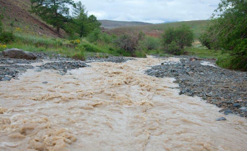 Modderig water royalty-vrije stock foto