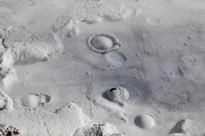 Moddervulkanen en modderkegels royalty-vrije stock foto