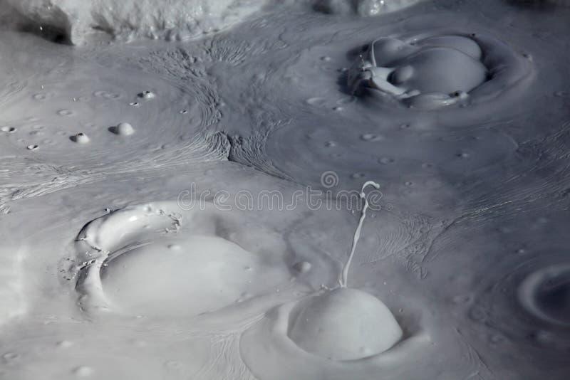 Moddervulkanen en modderkegels royalty-vrije stock fotografie
