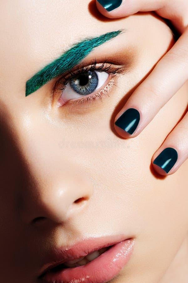 Mode Art Portrait. Kreatives Make-up lizenzfreies stockfoto