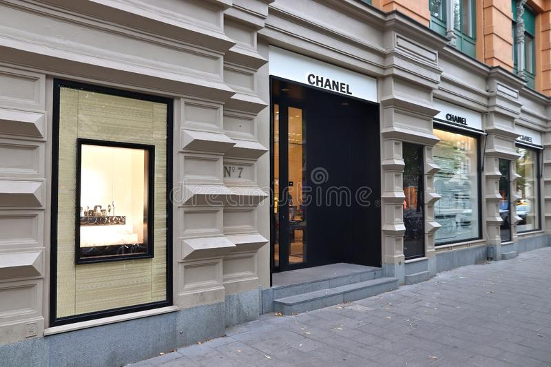 Mode Chanel, Stockholm images stock