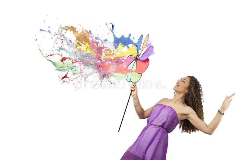 Mode colorée photographie stock libre de droits